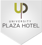 Logo for University Plaza Hotel and Convention Center