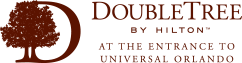 Logo for DoubleTree by Hilton Hotel at the Entrance to Universal Orlando