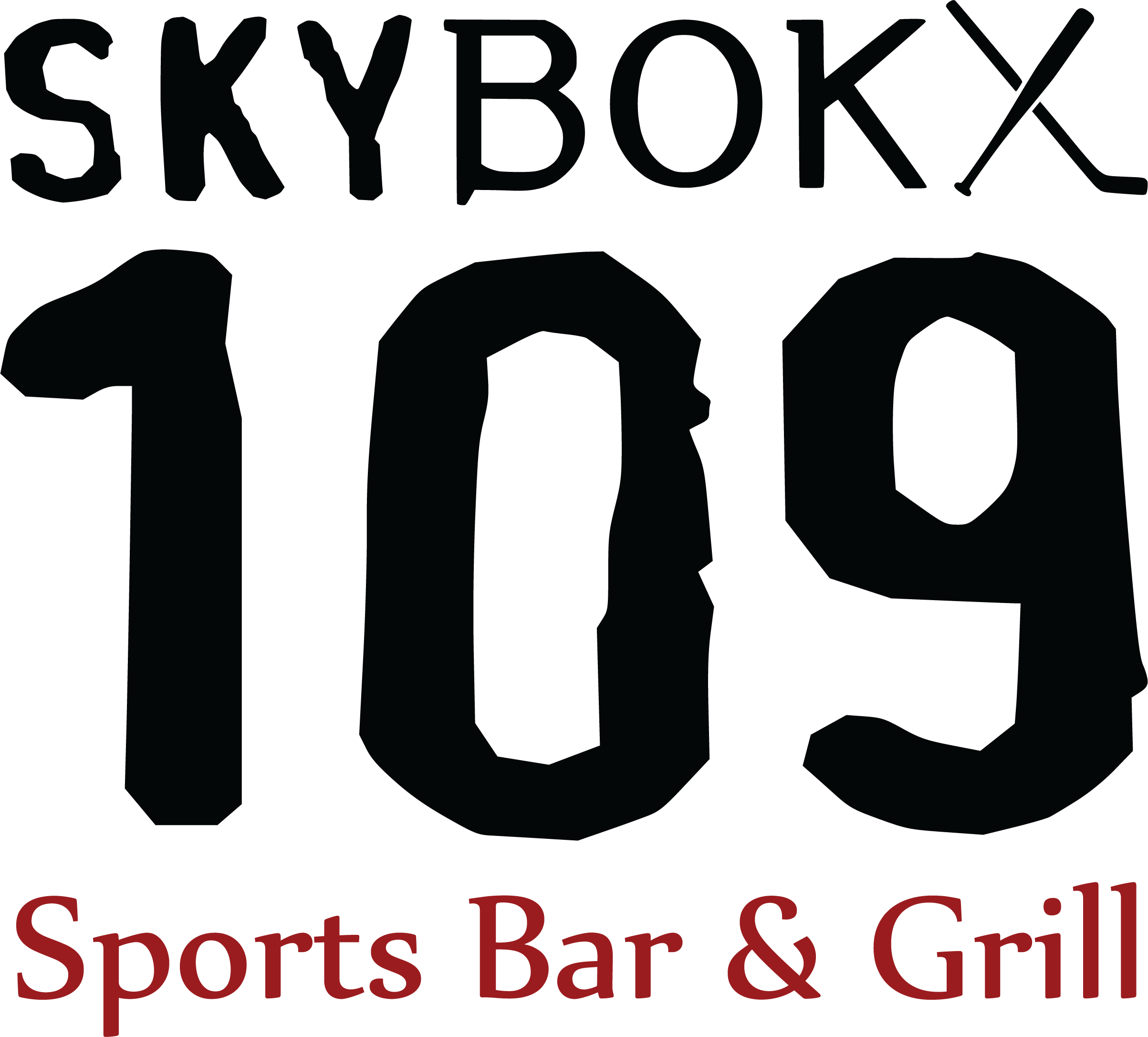 Logo for SKYBOKX 109 Sports Bar & Grill