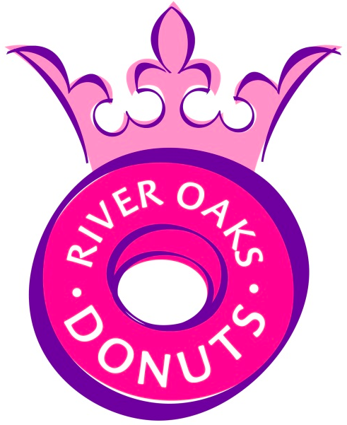 Logo for River Oaks Donuts