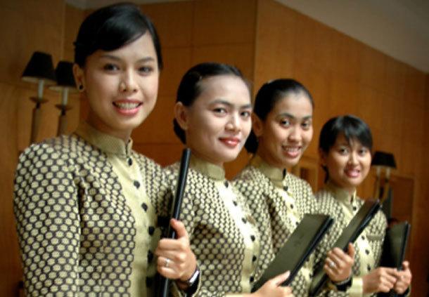 Indonesia voyage fb operation job jw marriott hotel for Spa uniform indonesia