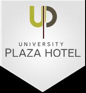 Logo for University Plaza Hotel