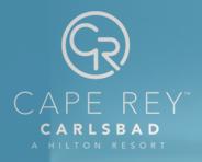Logo for Cape Rey Carlsbad, a Hilton Resort