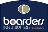 Logo for Boarders Inn and Suites by Cobblestone Hotels Shawano, WI