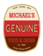 Logo for Michael's Genuine Food & Drink