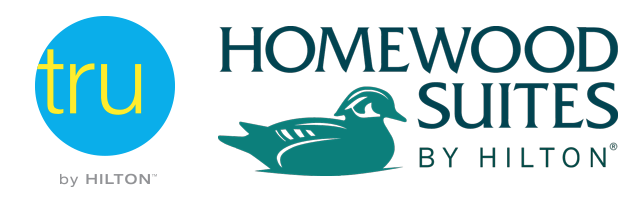Logo for Tru/Homewood Suites by Hilton Crossgates Mall