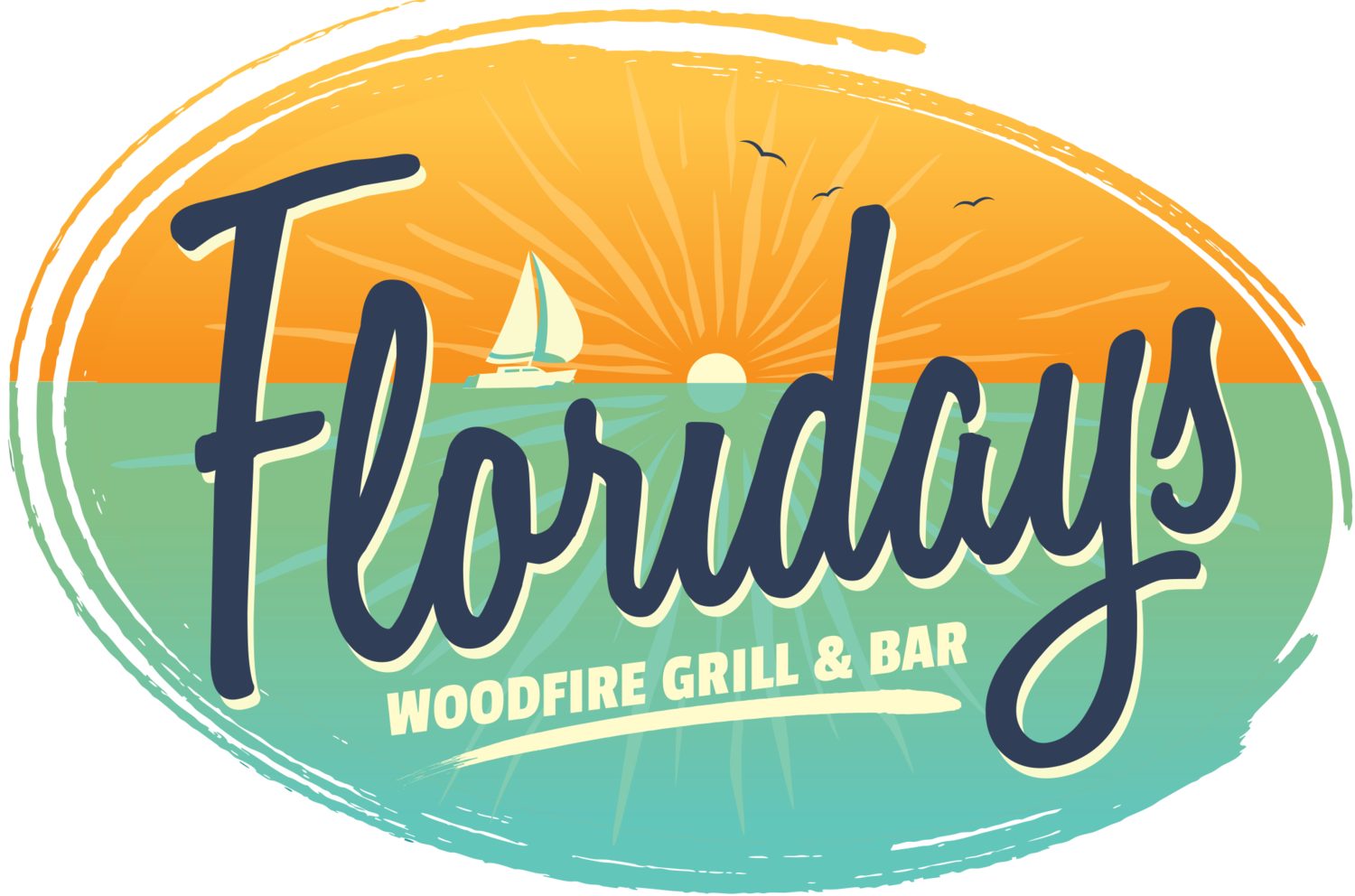 Logo for Floridays Woodfire Bar & Grill