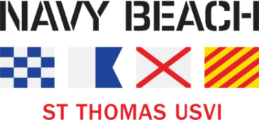 Logo for Navy Beach, St. Thomas