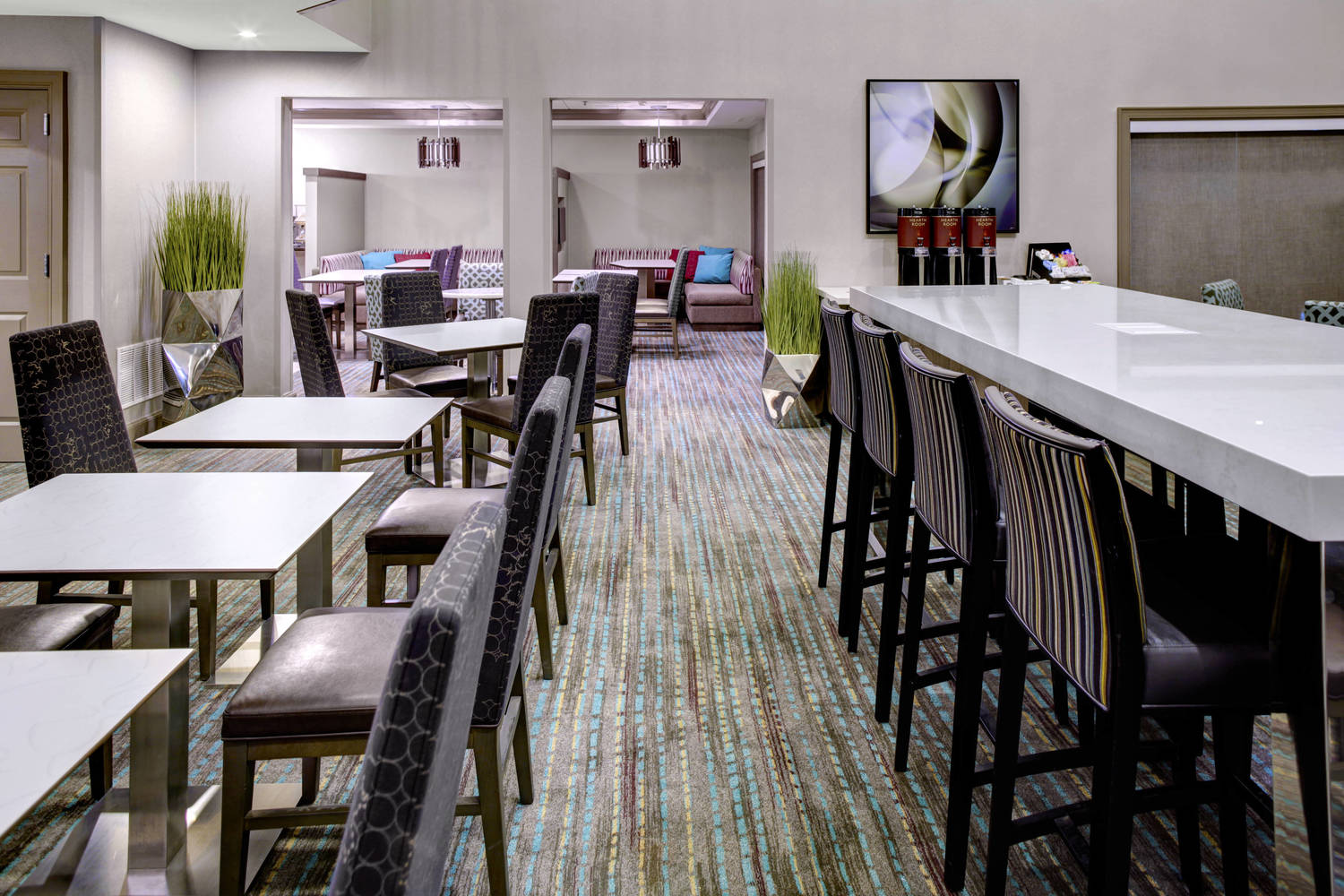 Our individual media pods and large communal table allow you to continue your work in a social area.