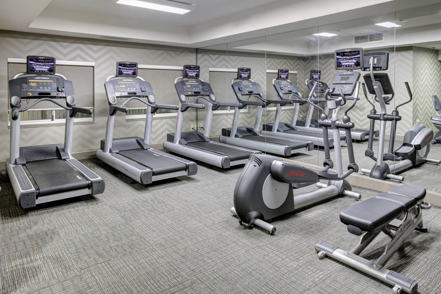 Our newly renovated, fully equipped 24-hour fitness center has all of your cardiovascular and free weight needs to maintain a healthy lifestyle while on the road.