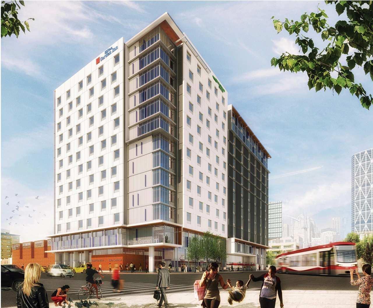 Hilton Garden Inn Homewood Suites Calgary Downtown Calgary Ab